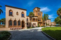 House of John and Mable Ringling an opulent mansion in the Mediterranean Revival style in Sarasota Florida.
