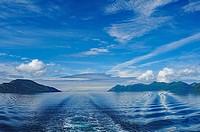 Ship wake Shelikof Strait Ak.