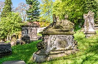 Nikolaikirchhof Graveyard, also known as Nikolaifriedhof, Goerlitz, Saxony, Germany.