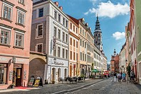 Old town at the Obermarkt in Goerlitz, Saxony, Germany.