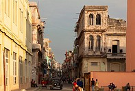 A typical street scene in Central Havana, Cuba.