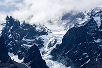 Snow blankets the peaks of Torres del Paine, Torres del Paine National Park, Patagonia, Chile, South America.