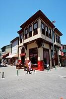 Late Ottoman vernacular architecture. Bursa streets. Turkey.