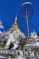 Chedi at Wat Saen Fang Temple in Chiang Mai, Thailand.