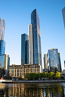 Southbank skyline, Melbourne.