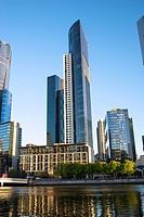 Southbank skyline, Melbourne.