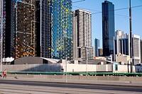 city corporate buildings from La Trobe Street, Melbourne.