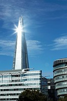The Shard and the buildings of More London, England; Great Britain.