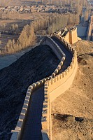 Western confine of the Great Wall at Jiayuguan, Gansu province, China, Asia.