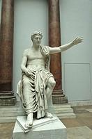 Statue of Trajan Roman emperor at the Pergamon Museum. Berlin, Germany