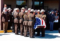 Deputy Sheriff´s funeral in Morningside, Maryland.