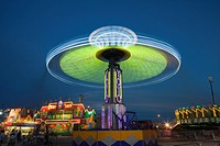 NASHVILLE - September 5: The colorfully illuminated Yo Yo spins on the midway at the Tennessee State Fair on September 5, 2014 at the Tennessee Fairgr...