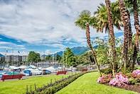 Lakefront of Locarno, Ticino, Switzerland.