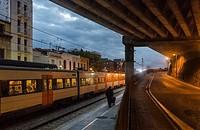 Train station, Caldes d´Estrac, Maresme, Barcelona Province, Spain