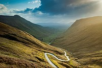 Spring sunrise at Glengesh Pass, county Donegal, Ireland.