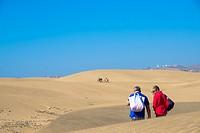 sand dunes at Maspalomas, Grand Canaria, Spain
