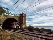 Commuter train, Arenys de Mar, Barcelona province, Spain