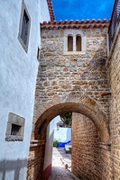 Medieval City Buildings, Obidos, UNESCO World Heritage Site, Portugal