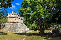 The Red House, Chichen Itza, Yucatan Provence, Mexico.
