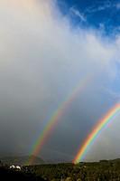 Double Rainbow, Castro Urdiales, Cantabria, Spain, Europe.