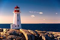 Peggy´s Point Lighthouse, Nova Scotia, Canada.
