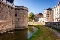 The Chateau des ducs de Bretagne in the city of Nantes in France.