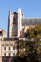 The cathedral of Saint Paul and Saint Peter or Cathedrale Saint-Pierre-et-Saint-Paul de Nantes in the city of Nantes.