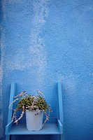 Detail of house in Burano, Venice, Italy.