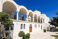 The Orthodox Metropolitan Cathedral of Santorini, Fira, Santorini Island, Cyclades, Greece.