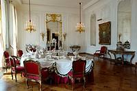 Dining room. Waddesdon Manor. Buckinghamshire. England.