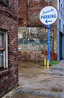 Parking lot sign, Memphis, Tennessee, USA.