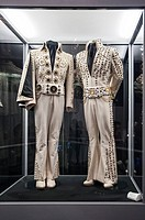 Elvis suits on display at Graceland, Memphis, Tennessee, USA.