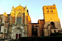 The Cathedral, Gothic-Romanesque, XIII - XVIIth centuries. Toulouse city, Haute-Garonne department, France
