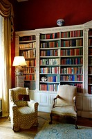 Library. Basildon Park. Country house. Berkshire. England.