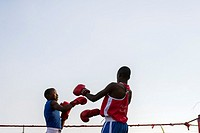 Boxing competition in Ndola, Zambia.
