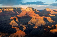 Yaki Point Evening Light, South Rim Grand Canyon,.