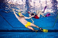 Aquathlon (underwater wrestling) Swimming pool, Nikolaev, Ukraine, Eastern Europe.