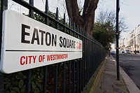 Eaton Square in Belgravia, exclusive area of London SW1, UK.
