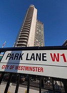 London Hilton on Park Lane, London, UK.