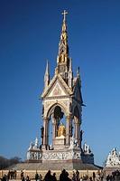 Th Albert Memorial, Hyde Park, London, UK.