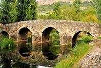 The roman bridge over the Sever River in Portagem, Alentejo, Portugal.