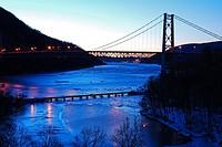 Winter at the Bear Mountain Bridge.