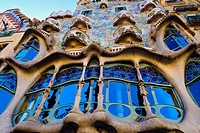 Casa Batllo by architect Antoni Gaudi. Barcelona, Catalonia, Spain.