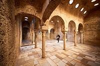 El Bañuelo Moorish steam bath in the Albaicin district , Granada, Spain, Europe.