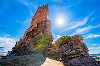 Castle of Zafra. Game of Thrones, Tower of Joy. Hombrados, Campillo de Dueñas, Guadalajara, Castilla La Mancha, Spain, Europe.