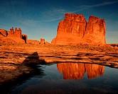 Arches National Park, Moab, Utah, Reflection