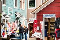 Quaint shops on Creek Street, Ketchikan, Alaska, USA.