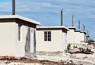 New affordable housing construction, Westmoreland Parish, Jamaica.