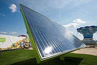 solar panels for electricity production, Lappeenranta Finland.