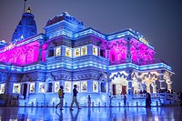 Prem Mandir ( love temple) Temple of Divine Love, Vrindavan, Mathura, Uttar Pradesh, India.